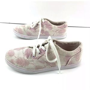 Vans Girl's Pink Feather Print canvas Shoes